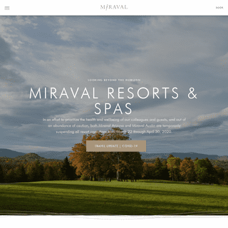Miraval Wellness Resorts and Signature Life in Balance Spas