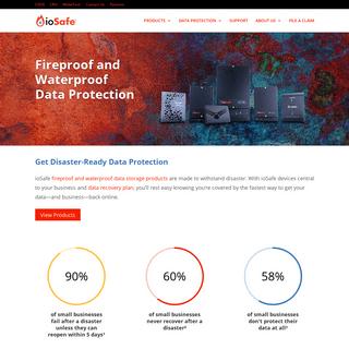 Data Protection and Storage- Fireproof, Waterproof, Disasterproof - ioSafe