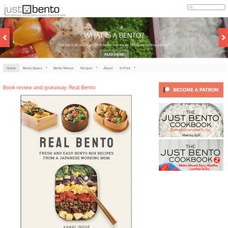 JustBento - Easy, delicious, healthy bento recipes, how-tos & more.