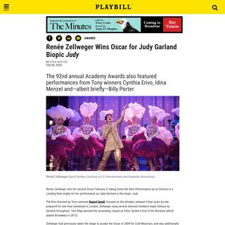 ArchiveBay.com - www.playbill.com/article/renee-zellweger-wins-oscar-for-judy-garland-biopic-judy - Renée Zellweger Wins Oscar for Judy Garland Biopic Judy - Playbill