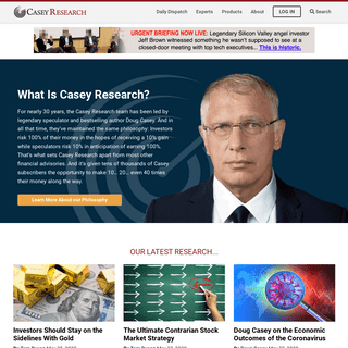 Casey Research- Investing Advice, Stock Tips & Market Speculation