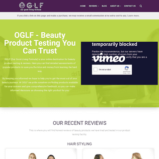 OGLF - (Our Good Living Formula) Beauty Product Reviews