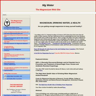 Magnesium-Deficiency Catastrophe- The Magnesium Web Site
