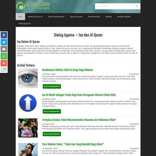 Situs Mengenai Isa dalam Al-Quran - Isa Dan Al-Quran