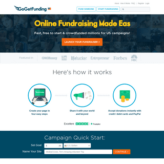 GoGetFunding - #1 Crowdfunding Website for Personal Causes ♥