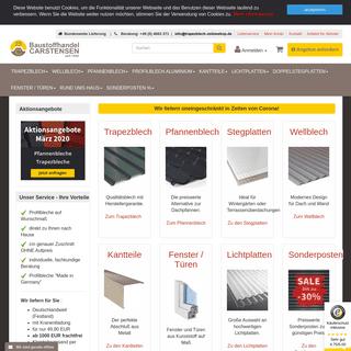 Trapezblech, Wellblech & Stegplatten online kaufen.