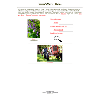 Farmers Market Online marketplace for farmers growers producers crafters artists and artisans