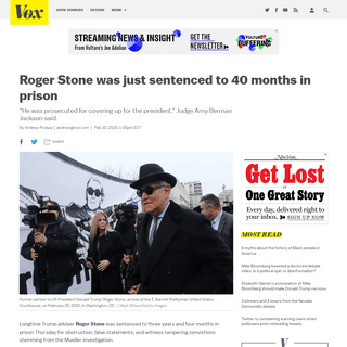ArchiveBay.com - www.vox.com/2020/2/20/21145338/roger-stone-sentencing-40-months-trump-judge-jackson - Roger Stone sentenced to 40 months in prison - Vox