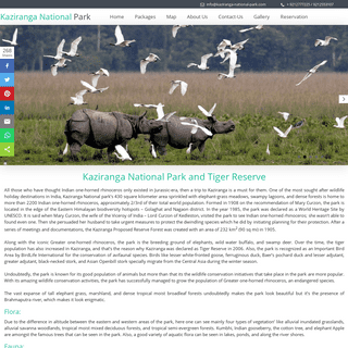 Kaziranga National Park & Tiger Reserve Assam, India