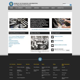 ArchiveBay.com - moneyfactory.gov - U.S. Bureau of Engraving and Printing
