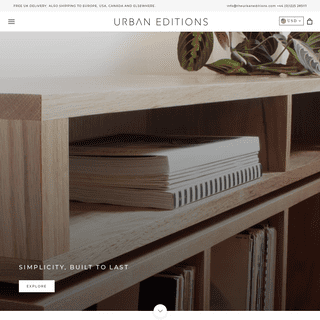Urban Editions - Minimal Solid Wood Furniture Custom Made In The UK