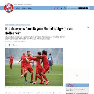 Match awards from Bayern Munich's big win over Hoffenheim - Bavarian Football Works