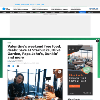 ArchiveBay.com - www.usatoday.com/story/money/food/2020/02/13/free-food-valentines-day-2020-restaurant-deals-freebies-cheap-date/4738379002/ - Valentine's Day 2020 food specials- Freebies and restaurant deals