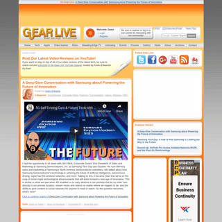 Gear Live - High tech gadget and consumer electronics news, opinions, and trends.