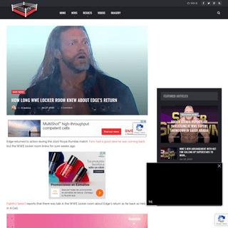 ArchiveBay.com - www.ringsidenews.com/2020/01/27/how-long-wwe-locker-room-knew-about-edges-return/ - How Long WWE Locker Room Knew About Edge's Return