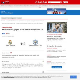 Champions League- Real Madrid gegen Manchester City live - 1-2 - FOCUS Online