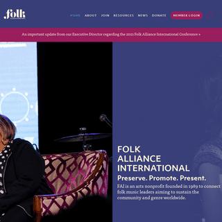ArchiveBay.com - folk.org - Folk Alliance International - Preserving, presenting, and promoting folk music