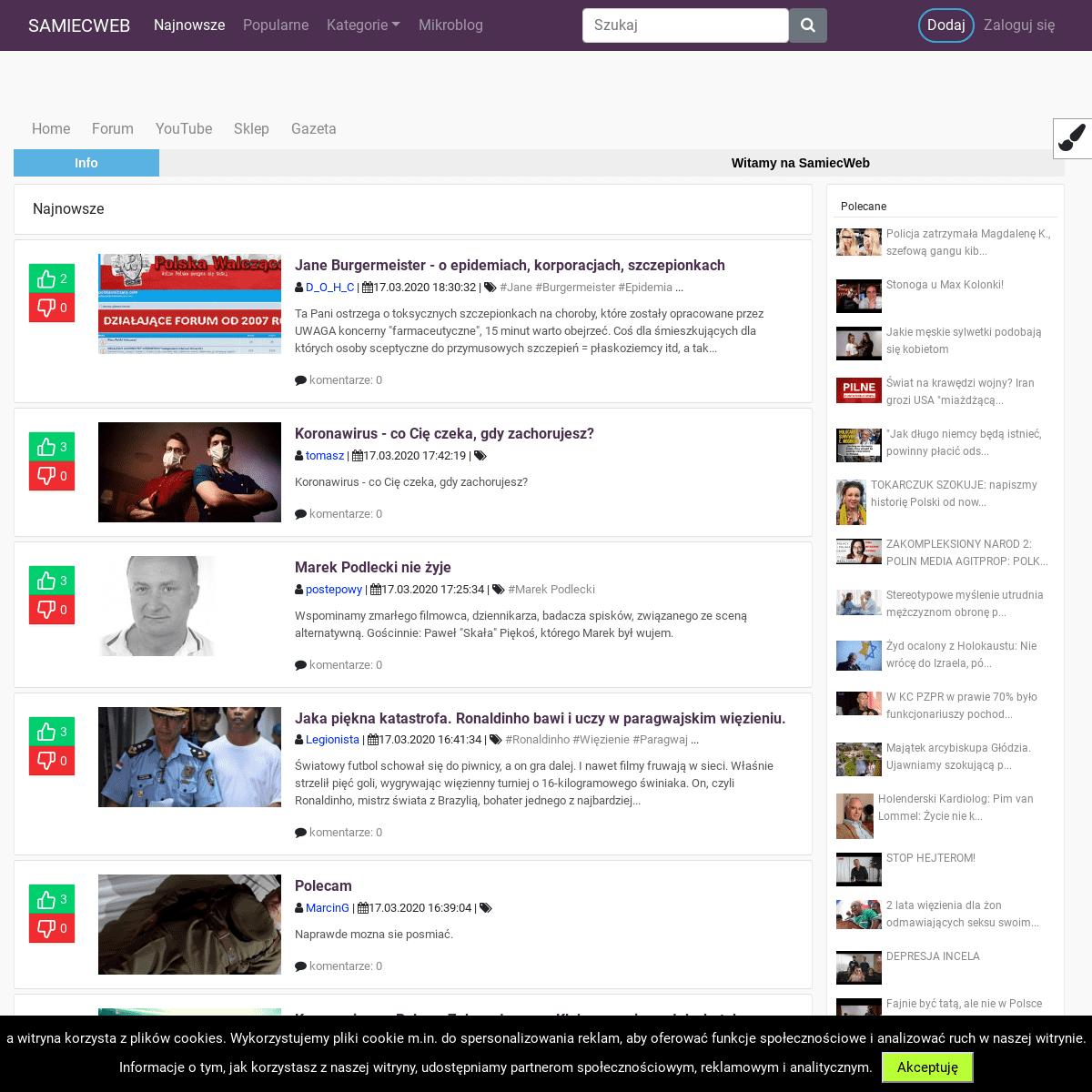 Najnowsze - Samiec Web