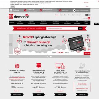 Registracija domen, spletno gostovanje, VPS gostovanje - Domenca.com