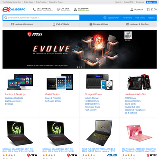 Laptops, Tablets, Network Storage, and PC Hardware - EXcaliberPC.com