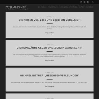 Patzelts Politik – Der Politikblog von Werner J. Patzelt