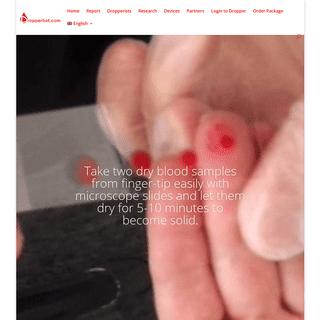 Dropperbot.com - Dry Blood Service - Dropperbot