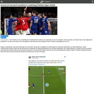 Avond vol met pech resulteert in nederlaag Chelsea tegen United