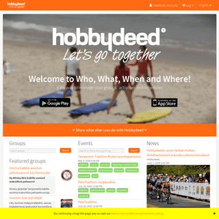 Hobbydeed - Organize your groups activities- events, messaging, member register, data - all in one place