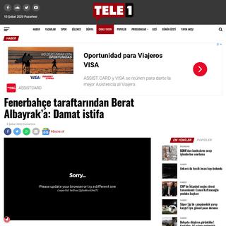Fenerbahçe taraftarından Berat Albayrak'a- Damat istifa - Tele1