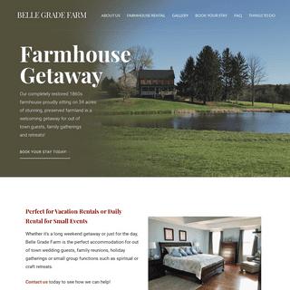 Belle Grade Farm - Farmhouse Rental in Pylesville, Maryland, 21132