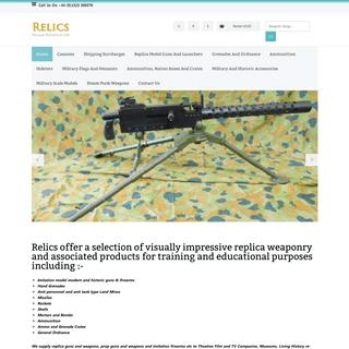 Relics - Replica Weapons - Convincing film and theatre props