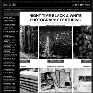 ArchiveBay.com - metroscap.com - Black and White Photography of Cities and Skylines at Night