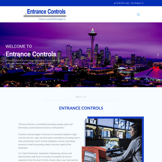Entrance Controls – Serving the Pacific Northwest since 1964
