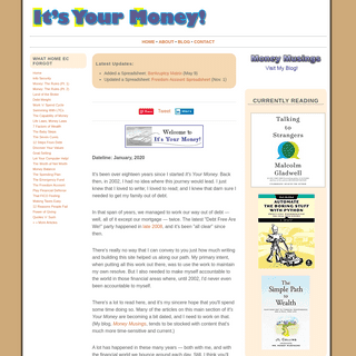 It's Your Money! Personal Finance and Budgeting