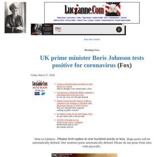 Lucianne.com News Forum