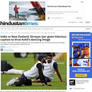 ArchiveBay.com - www.hindustantimes.com/cricket/india-vs-new-zealand-shreyas-iyer-gives-hilarious-caption-to-virat-kohli-s-dancing-image/story-qmBWgBNzPujWfxv5efsz9O.html - India vs New Zealand- Shreyas Iyer gives hilarious caption to Virat Kohli's dancing image - cricket - Hindustan Times