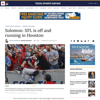 Solomon- XFL is off and running in Houston - HoustonChronicle.com