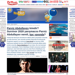 Parviz Abdullayev kimdir- Survivor 2020 yarışmacısı Parviz Abdullayev nereli, kaç yaşında- - Medy...