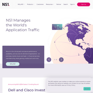 NS1 - Managed & Private DNS That's Smart, Efficient & Fast