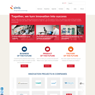ArchiveBay.com - sirris.be - Sirris - Driving industry by technology