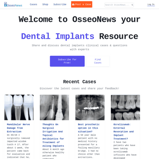 Clinical Cases and Questions on Dental Implants - OsseoNews Dental Implants