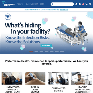Home page - Performance Health