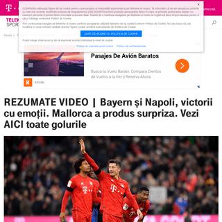 REZUMATE VIDEO - Bayern şi Napoli, victorii cu emoţii. Mallorca a produs surpriza. Vezi AICI toate golurile