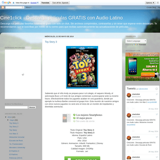 Cine1click - Descarga películas GRATIS con Audio Latino