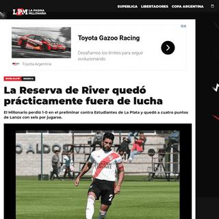 La Reserva de River quedó prácticamente fuera de lucha - River Plate - La Página Millonaria