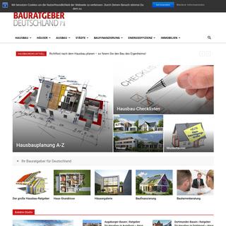 Bauratgeber-Deutschland - Der kostenlose Bauratgeber für Hausbau, Finanzierung und Energie