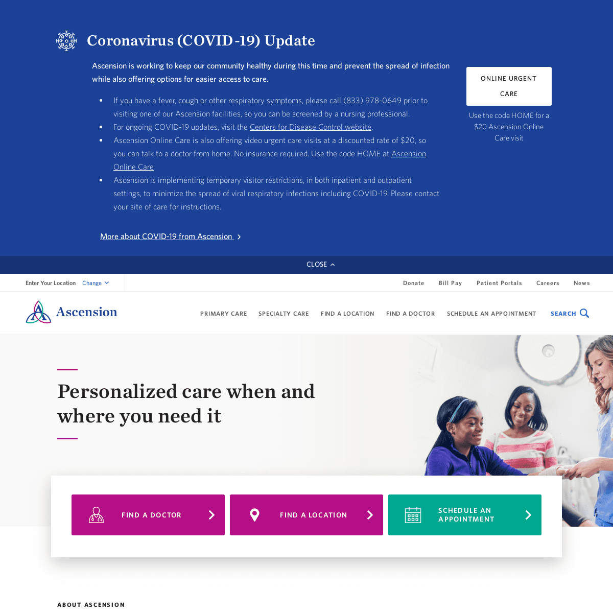 Homepage - Ascension