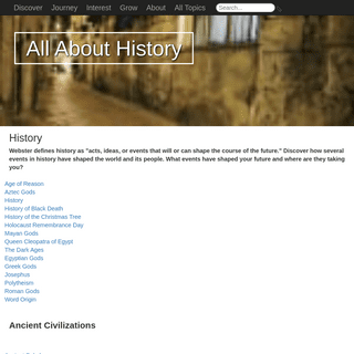 History - AllAboutHistory.org