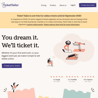Ticket Tailor - Sell tickets online - Simple, great value event ticketing