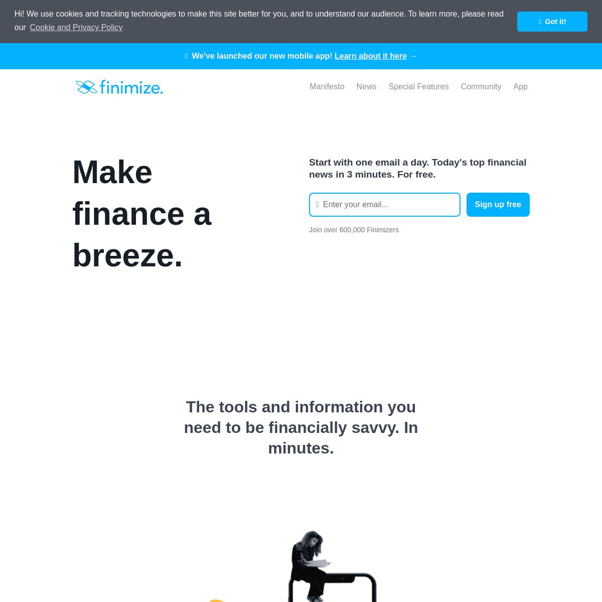 Finimize- make finance a breeze - Make smarter finance decisions. Subscribe now. - Finimize
